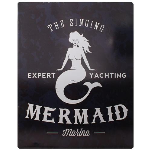 Metal Signing Mermaid Sign - W-8736