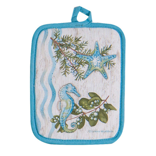 Starfish Seahorse Shells Pot Holder - R3072