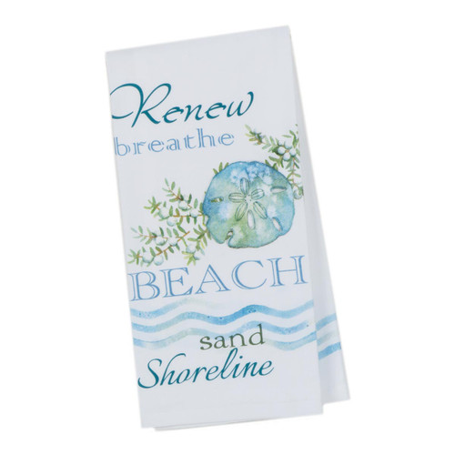 Beach Renew Breathe Sand Shoreline Cotton Tea Towel R3078-B