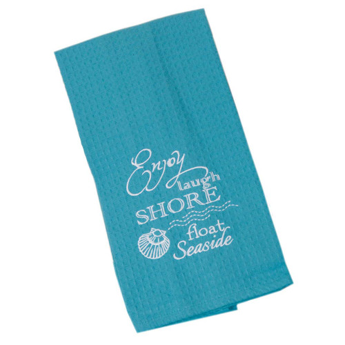 Shore Seaside Cotton Embroidered Waffle Towel F0773-S