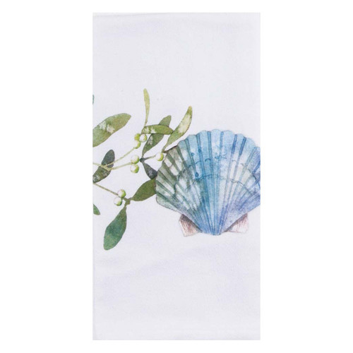 Scallop Ocean Tide Krinkle Cotton Towel A8525