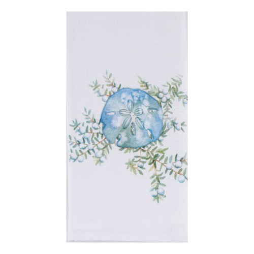 Sand Dollar Ocean Tide Krinkle Cotton Towel A8523