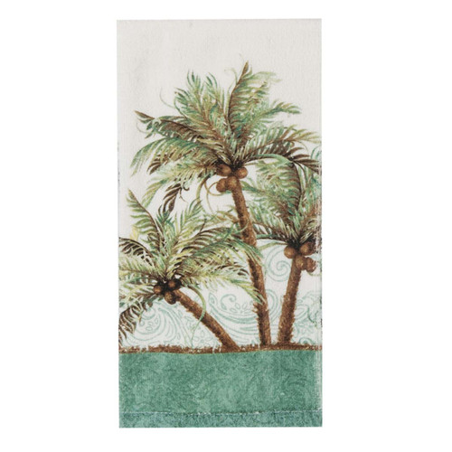 Palm Trees Coconuts Terry Towel R3040