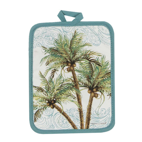 Palm Trees Coconuts Pot Holder - R3042