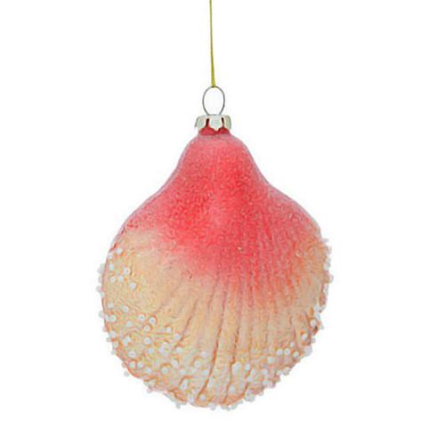 Sparkle Scallop Sea Shell Ornament - 3OT444-SC