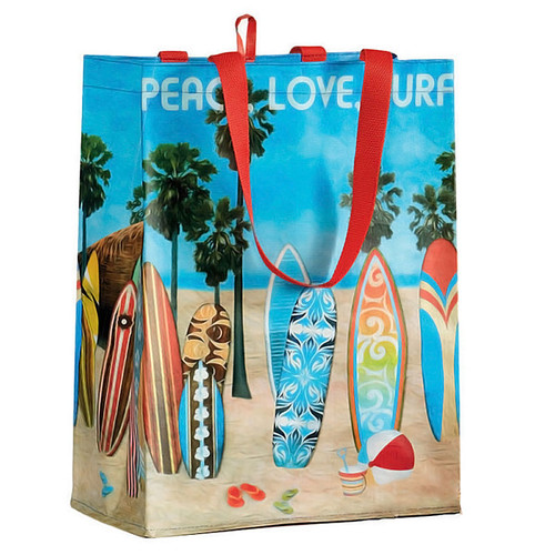 Beach Surf Theme Tote Grocery Bag 28274
