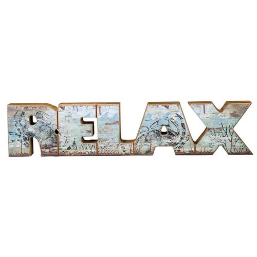 Relax Chunky Wooden Words Decor 21064