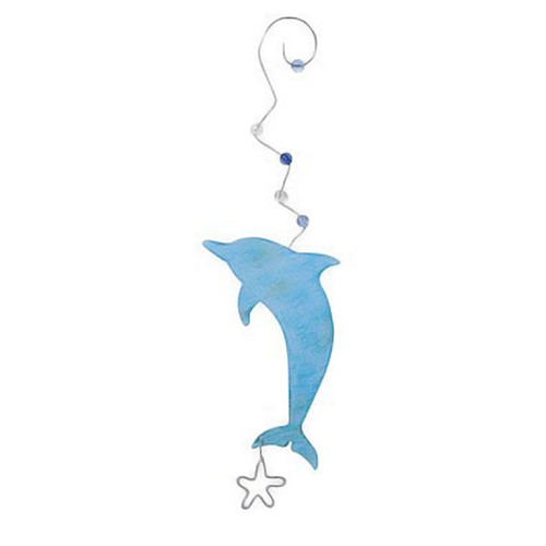 Dolphin Metal Ornament - 861-76