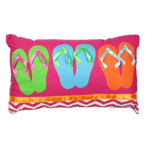 Colorful Flip Flops Accent Pillow 60165-P