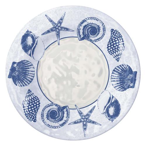 """Blue Shells 11"""" Dinner Plate Melamine 22072"""