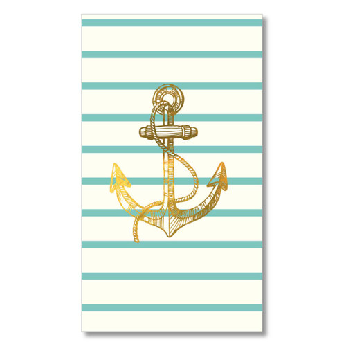 Nautical Anchor Paper Guest Towel Napkins Pk of 16 - TW8-16891