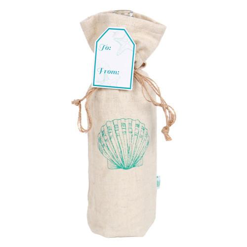 Fan Shell Cotton Wine Tote Bag 25267-F