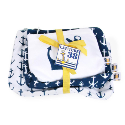 Nautical Anchor Set 3 Pouch 20451W