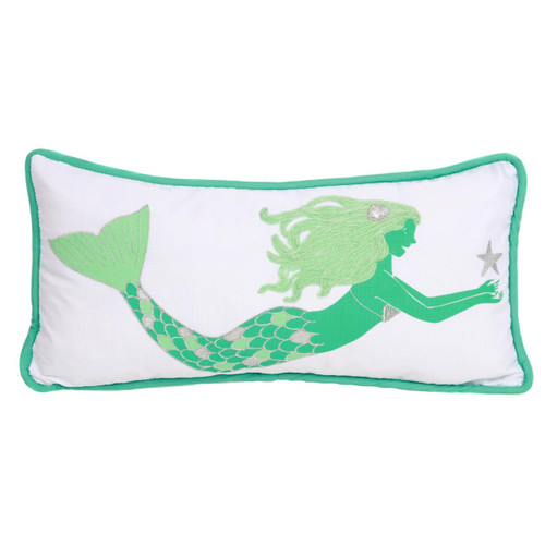 Mermaid 8x16 Decor Throw Accent Pillow 25198