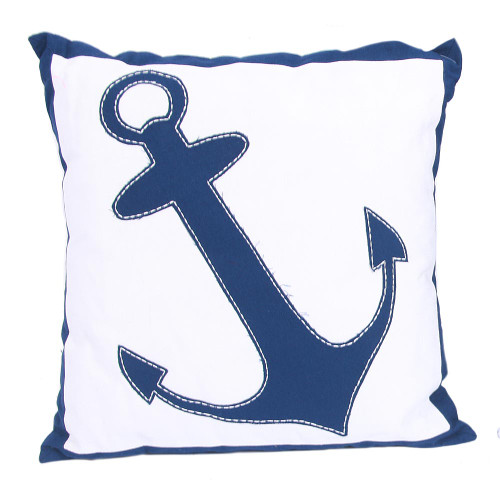 "Anchor 16"" White Decor Throw Accent Pillow 20369B"
