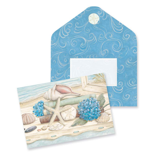 Shells Starfish Note Cards 10 Pack 09-028