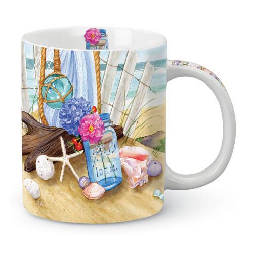 Gathering Sea Shells Scene Coffee Mug 714-44