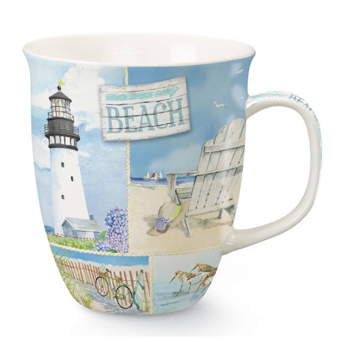 Blue Beach Collage Coffee Mug 718-47
