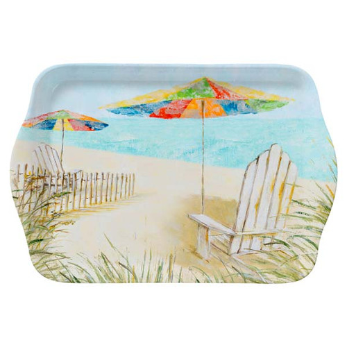 "Beach Chairs Umbrella 8"" Tray Melamine 22062"