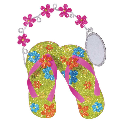 Glitter Shiny Flip Flop Christmas Ornament 875-07
