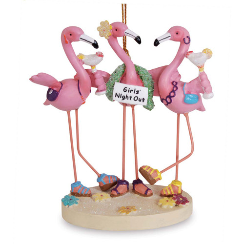 Flamingo Friends Girls Night Out Party Resin Ornament 873-20