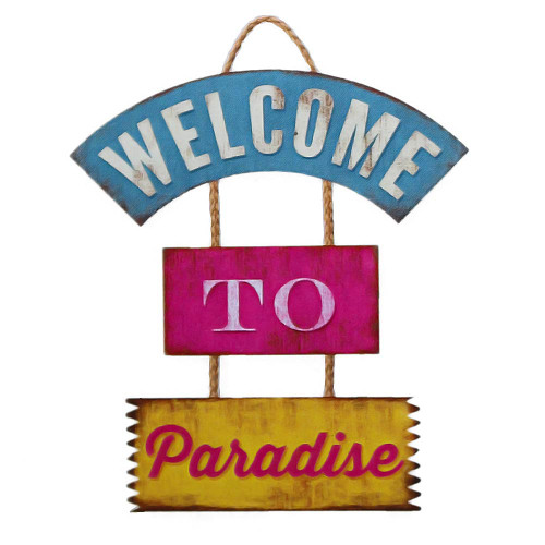 Welcome to Paradise Wooden Sign 30-00056
