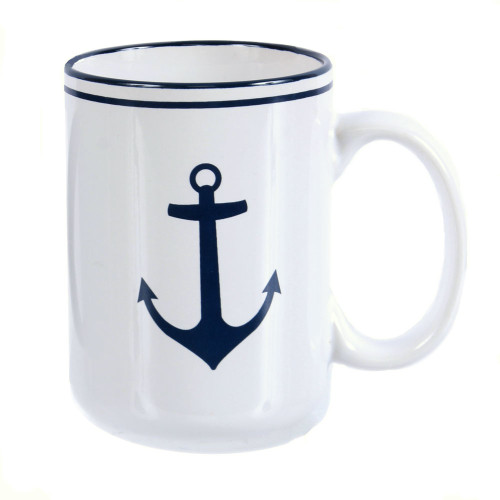 Anchor Mug - White Ceramic 18oz - 20385W