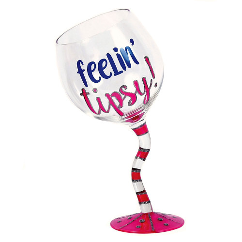 Feelin Tipsy Pink Wine Glass 18oz - 30383P