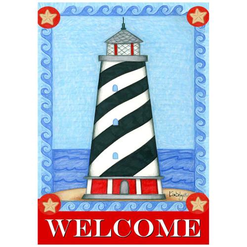Guiding Light Lighthouse Beach House Size Flag - HFBL-H00156