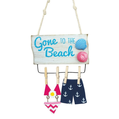 """Bathing Suits Ornament """"Gone to the Beach""""   874-34"""