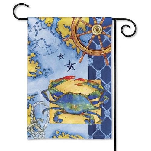 True Blue Crab Garden Flag 32046