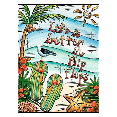 Life is better in Flip Flops Blank Card BKG14998