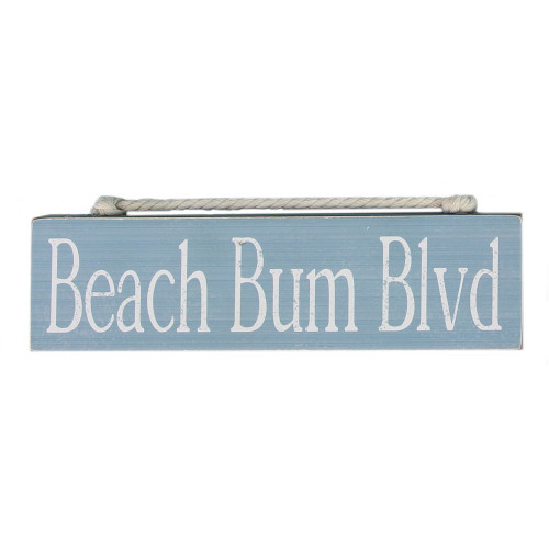 Beach Bum Wood Block Sign 15535BU