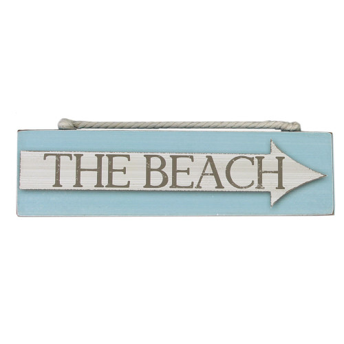 The Beach Wood Block Sign 15535BE