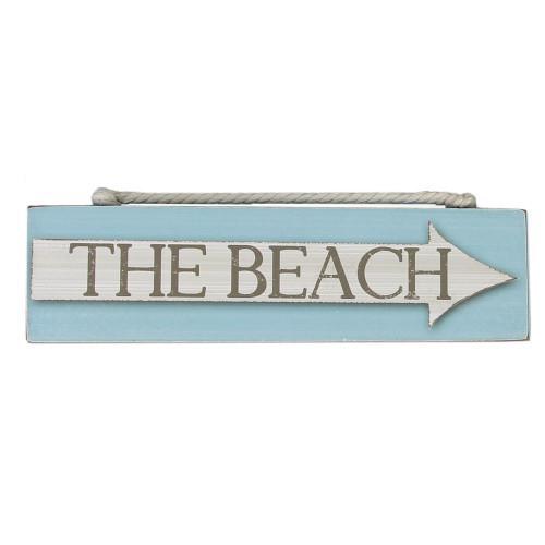 The Beach Wood Block Sign 15535BE