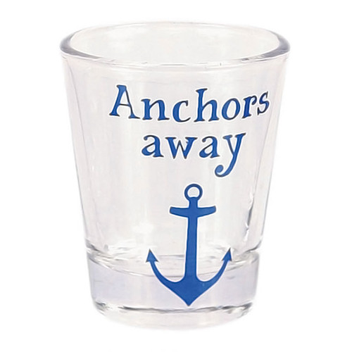 Nautical Theme Anchors Away Shot Glass - 20394A