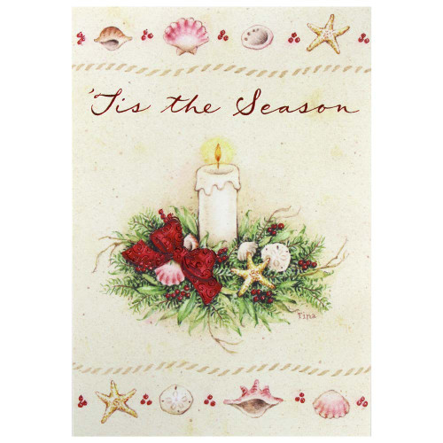 Tis the Season Tropical Beach Greeting Christmas Cards Box of 10 C73925