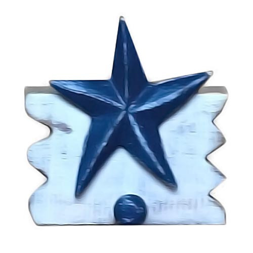 Wooden Starfish Single Peg Hook 1985-2-500