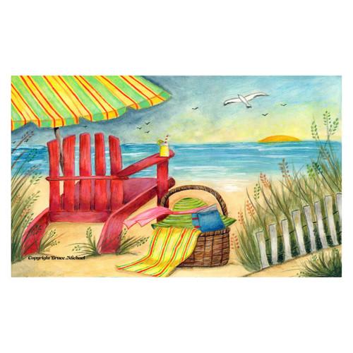 Relaxing PicnicTropical Beach Days Floor Mat - 800245