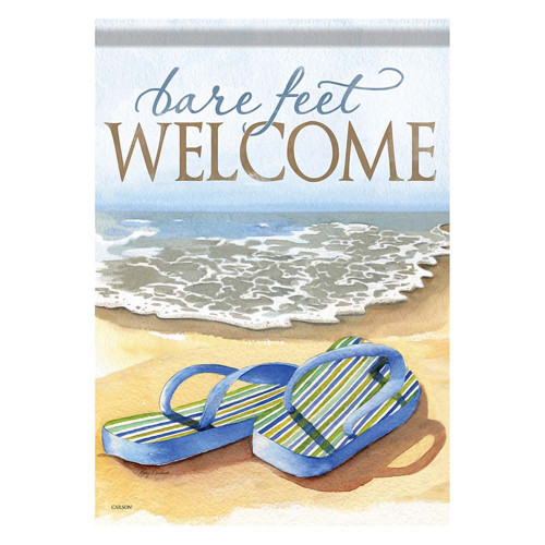 Welcome Bare Feet Flip Flop GARDEN Flag - 45081