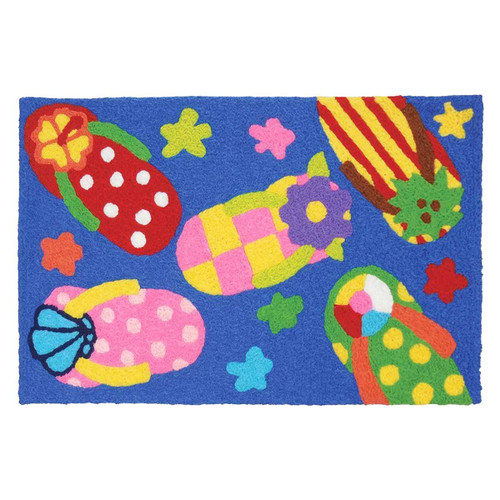 Fun Flip Flops Rug Indoor Outdoor Washable JB-CE034