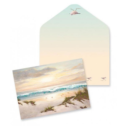 Tropical Beach Scene Note Cards 10 Pack 09-026