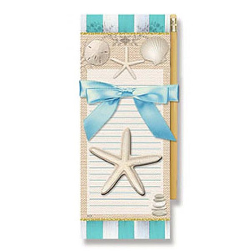 "Sea Shell Magnetic List Pad with Pencil ""Elegance"" - 91-413"