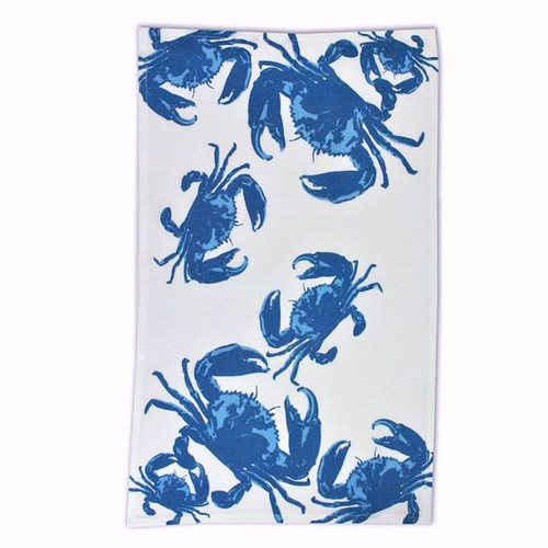 Blue Ocean Crab Cotton Flour Sack Towel - 23163