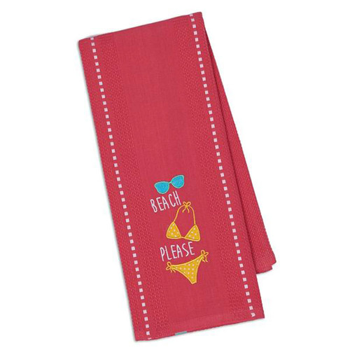 Bikini Embroidered Cotton Tea Towel - 28766