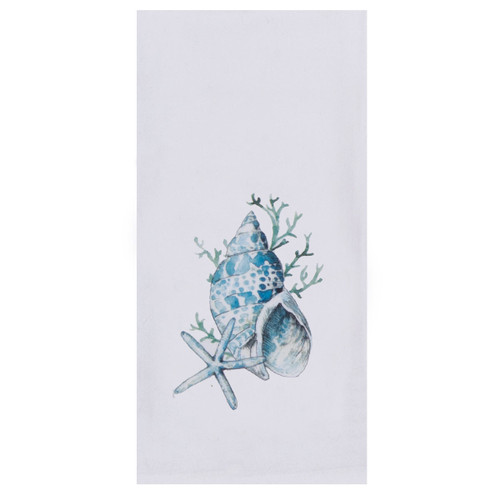 Blue Beach Flour Cotton Tea Towel - R3273