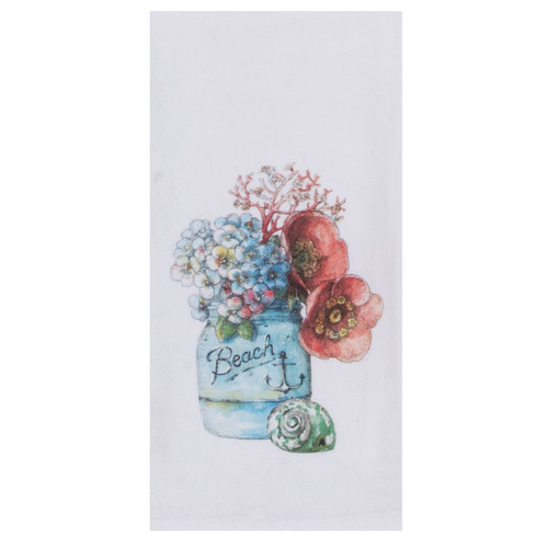 Beach Floral Flour Cotton Tea Towel - R3283