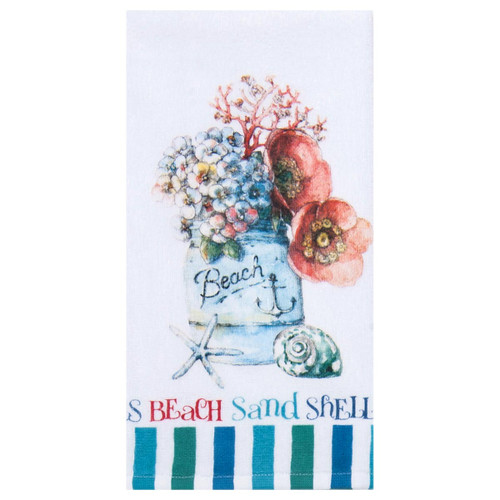 Beach Floral Cotton Terry Towel - R3270