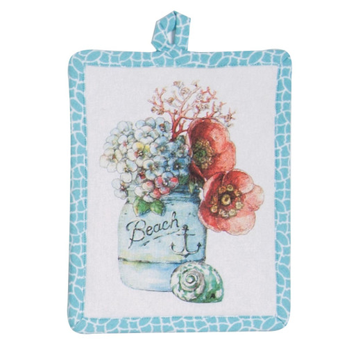 Floral Beach Theme Pot Holder - R3272