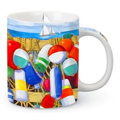 Buoys Boat Ocean Ceramic Mug 13oz 714-46